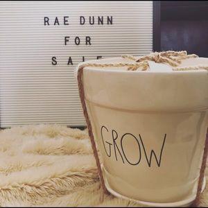 "Rae Dunn ""GROW"" pot"